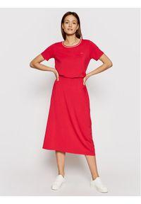Czerwona sukienka Liu Jo Sport na co dzień, casualowa, prosta