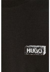 Czarne spodnie dresowe Hugo z aplikacjami #5