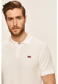 Biała koszulka polo Levi's® polo, gładkie