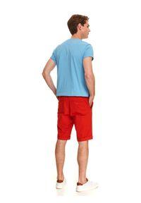 TOP SECRET - Szorty gładkie. Okazja: na co dzień. Kolor: czerwony. Materiał: bawełna. Wzór: gładki. Styl: sportowy, casual, wakacyjny