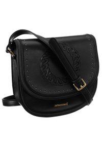 Czarna torebka Monnari z tłoczeniem