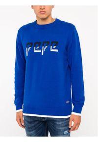 Niebieski sweter klasyczny Pepe Jeans