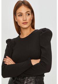 Czarna bluzka z długim rękawem Answear Lab wakacyjna, na co dzień