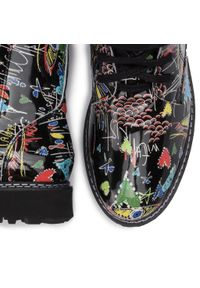 Czarne buty trekkingowe Oleksy w kolorowe wzory #7