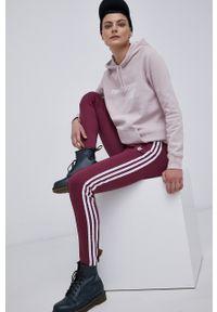adidas Originals - Spodnie. Stan: podwyższony. Kolor: fioletowy. Materiał: dzianina, materiał