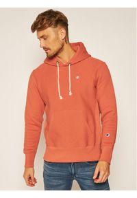 Champion Bluza C Logo 215214 Pomarańczowy Custom Fit. Kolor: pomarańczowy