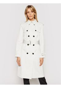 Biały trencz Calvin Klein
