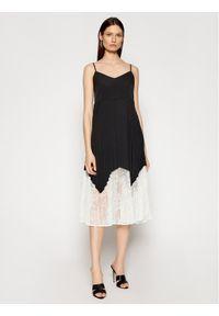 Czarna sukienka letnia TwinSet casualowa, prosta, na co dzień