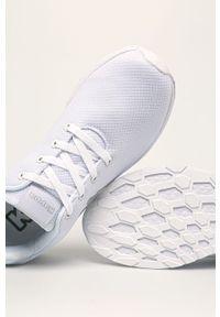 Białe sneakersy Kappa z cholewką, z okrągłym noskiem