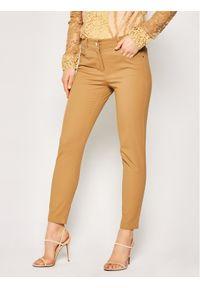 Brązowe jeansy slim Pennyblack