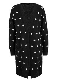 Czarny sweter bonprix długi, w kropki