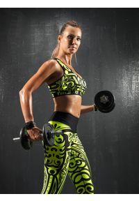 Czarny biustonosz sportowy FJ! do biegania, push-up