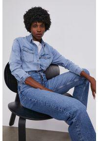 Answear Lab - Koszula jeansowa. Okazja: na co dzień. Kolor: niebieski. Materiał: jeans. Styl: wakacyjny