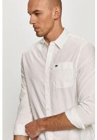 Biała koszula Tommy Jeans klasyczna, z klasycznym kołnierzykiem, na co dzień, długa