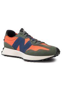 New Balance - Sneakersy NEW BALANCE - MS327TB Pomarańczowy. Okazja: na co dzień. Kolor: pomarańczowy. Materiał: skóra, materiał, zamsz. Szerokość cholewki: normalna. Styl: casual