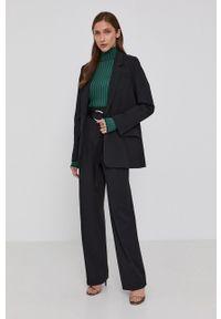 Victoria Victoria Beckham - Marynarka. Kolor: czarny. Materiał: tkanina. Wzór: gładki. Styl: klasyczny