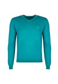 Sweter Roberto Cavalli z dekoltem w kształcie v, casualowy