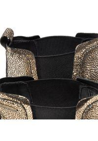 Złote botki Pepe Jeans na średnim obcasie, na obcasie #7