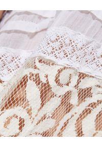 GADO GADO - Asymetryczna spódnica maxi. Okazja: na co dzień. Kolor: biały. Materiał: koronka. Wzór: haft, koronka, aplikacja. Sezon: lato. Styl: casual