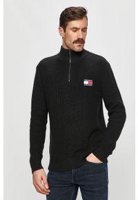 Czarny sweter Tommy Jeans z długim rękawem, casualowy