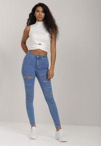 Renee - Niebieskie Jeansy Skinny Lysopheu. Kolor: niebieski