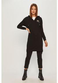 Czarna sukienka Armani Exchange mini, prosta, na co dzień