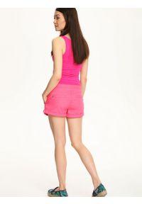 Różowy t-shirt TROLL bez rękawów, w kolorowe wzory #5