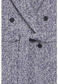 Niebieski płaszcz mango na co dzień, klasyczny, bez kaptura #8