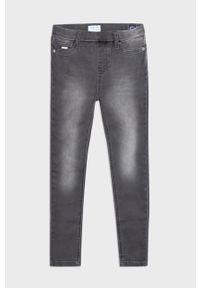 Szare jeansy Mayoral w kolorowe wzory