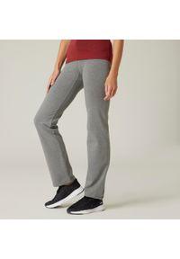 NYAMBA - Legginsy fitness FIT+. Kolor: szary. Materiał: elastan, bawełna, materiał. Sport: fitness