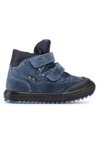 RenBut - Trzewiki RENBUT - 23-3345 Jeans Serca. Kolor: niebieski. Materiał: skóra, zamsz. Styl: młodzieżowy