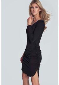 Czarna sukienka wizytowa Figl casualowa