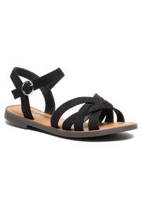 Refresh - Sandały REFRESH - 72750 Black. Okazja: na co dzień. Kolor: czarny. Materiał: materiał. Sezon: lato. Styl: casual
