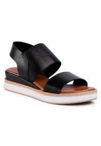 Czarne sandały Inuovo na co dzień, casualowe