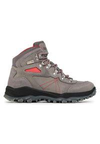 Szare buty trekkingowe Sprandi z cholewką, trekkingowe