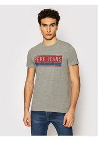 Pepe Jeans T-Shirt Jayo PM507845 Szary Regular Fit. Kolor: szary