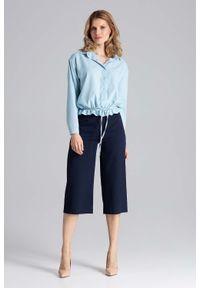 Niebieska koszula Figl elegancka