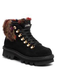Czarne buty trekkingowe Montelliana