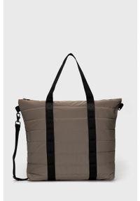 Rains - Torebka 1379 Tote Bag Quilted. Kolor: beżowy. Rodzaj torebki: na ramię