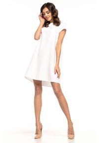 Biała sukienka wizytowa Tessita wizytowa