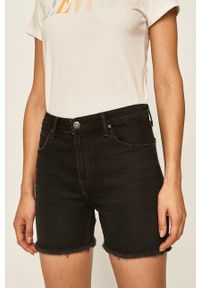 Lee - Szorty jeansowe. Okazja: na co dzień. Kolor: czarny. Materiał: jeans. Styl: casual
