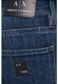 Armani Exchange - Jeansy. Kolor: niebieski