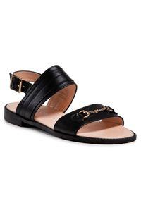 Czarne sandały Baldaccini