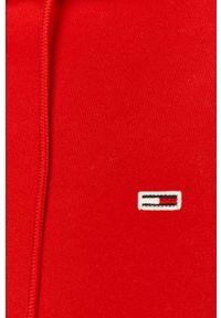 Czerwona bluza nierozpinana Tommy Jeans casualowa, z kapturem