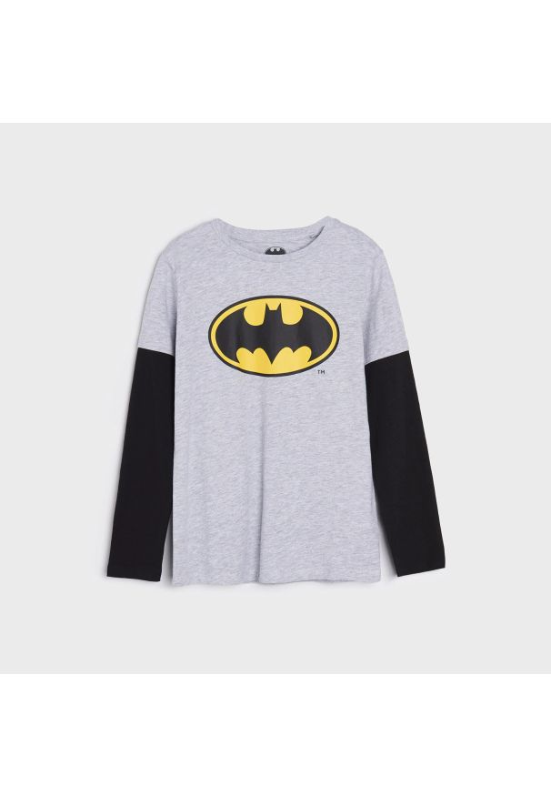 Sinsay - Koszulka Batman - Szary. Kolor: szary. Wzór: motyw z bajki