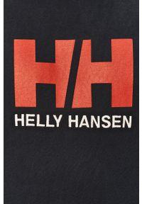 Niebieska bluza nierozpinana Helly Hansen z aplikacjami, casualowa