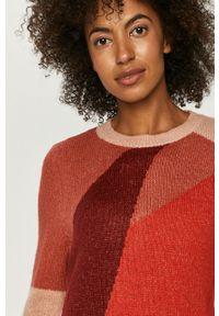 Różowy sweter only długi, na co dzień