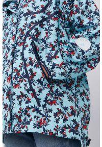 Adidas by Stella McCartney - adidas by Stella McCartney - Kurtka. Kolor: niebieski. Materiał: tkanina, materiał. Długość rękawa: raglanowy rękaw