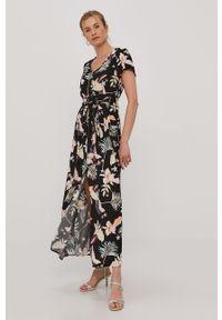 Czarna sukienka Roxy prosta, casualowa