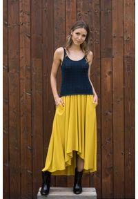 VEVA - Spódnica asymetryczna Woman of colour curry. Sezon: jesień